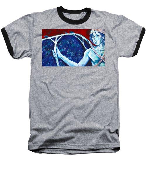Icarus Baseball T-Shirt by Derrick Higgins