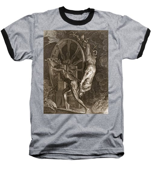 Ixion In Tartarus On The Wheel, 1731 Baseball T-Shirt by Bernard Picart