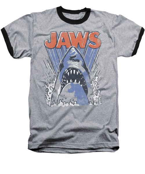 Jaws - Comic Splash Baseball T-Shirt by Brand A