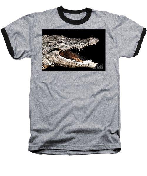 Jaws Baseball T-Shirt by Douglas Barnard