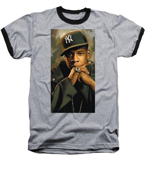 Jay-z Artwork 2 Baseball T-Shirt by Sheraz A