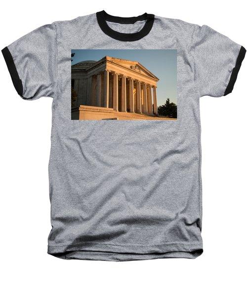 Jefferson Memorial Sunset Baseball T-Shirt by Steve Gadomski