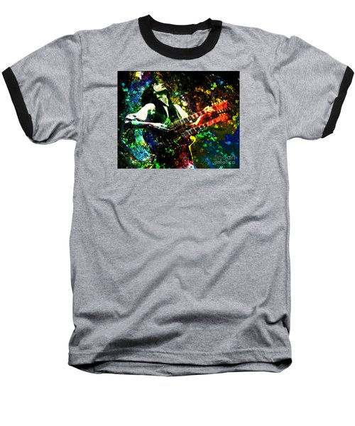 Jimmy Page - Led Zeppelin - Original Painting Print Baseball T-Shirt by Ryan Rock Artist