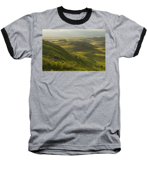 Killdeer Badlands In East Block Of Baseball T-Shirt by Dave Reede