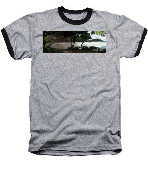 Koki Beach Hana Maui Hawaii Baseball T-Shirt by Sharon Mau