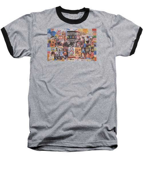 Led Zeppelin Years Collage Baseball T-Shirt by Donna Wilson