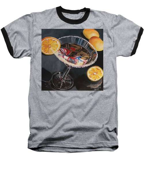 Lemon Drop Baseball T-Shirt by Debbie DeWitt