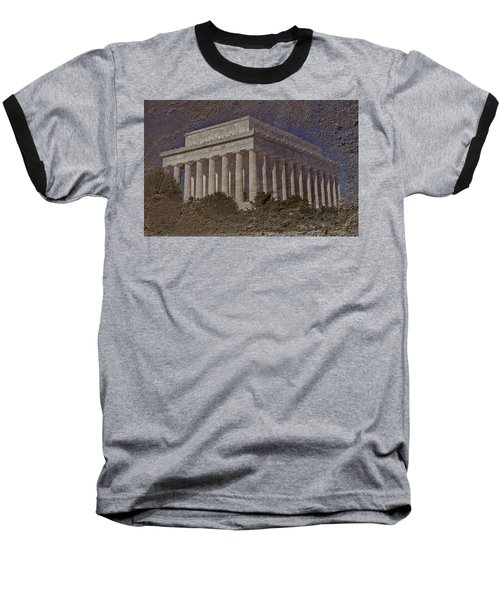 Lincoln Memorial Baseball T-Shirt by Skip Willits