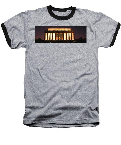 Lincoln Memorial Washington Dc Usa Baseball T-Shirt by Panoramic Images