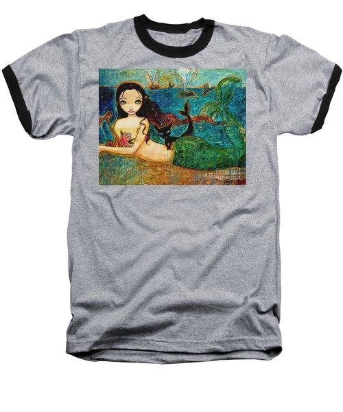Little Mermaid Baseball T-Shirt by Shijun Munns