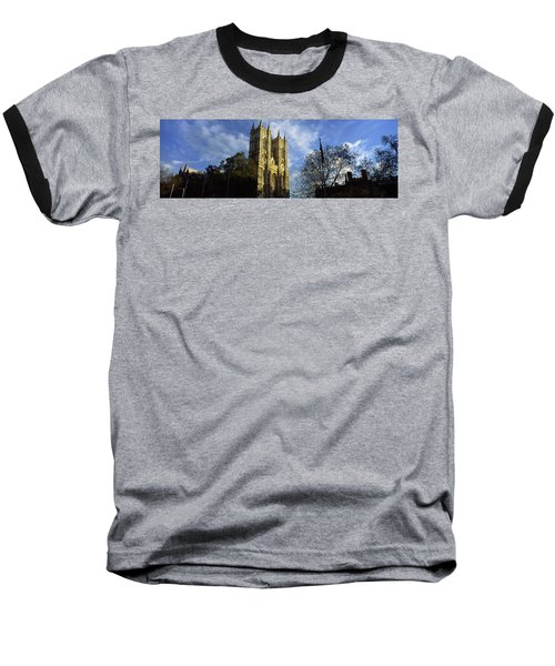 Low Angle View Of An Abbey, Westminster Baseball T-Shirt by Panoramic Images
