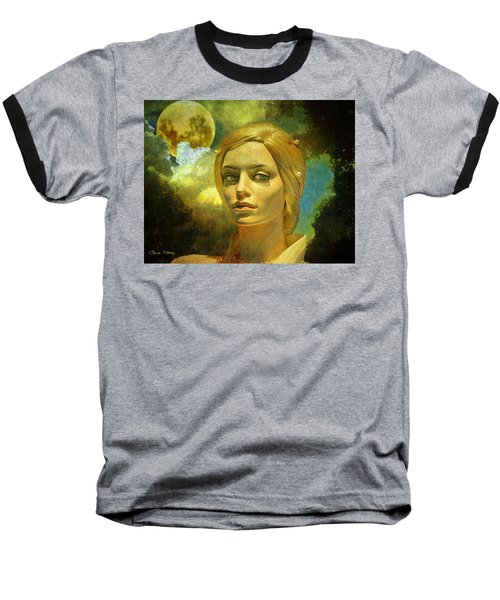 Luna In The Garden Of Evil Baseball T-Shirt by Chuck Staley