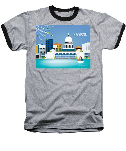 Madison Baseball T-Shirt by Karen Young
