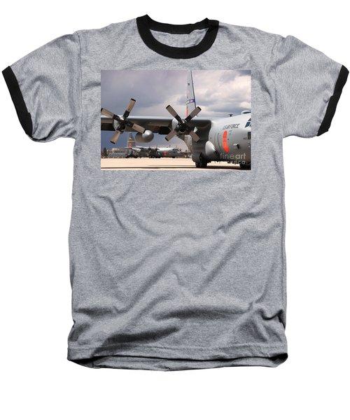 Baseball T-Shirt featuring the photograph Maffs C-130s At Cheyenne by Bill Gabbert