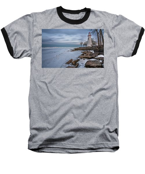 Marblehead Lighthouse  Baseball T-Shirt by James Dean
