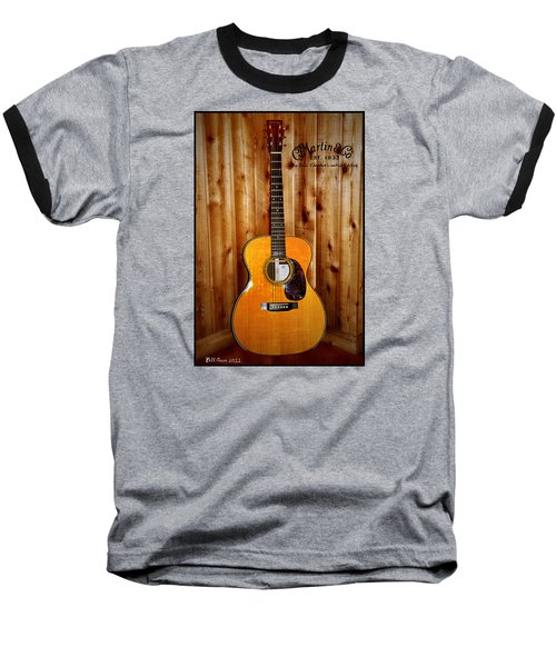 Martin Guitar - The Eric Clapton Limited Edition Baseball T-Shirt by Bill Cannon
