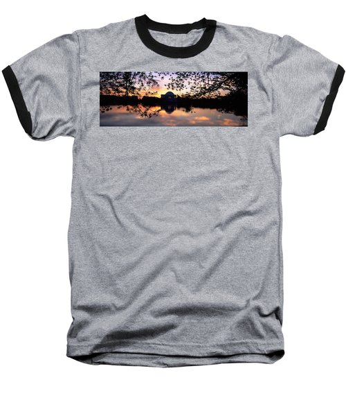 Memorial At The Waterfront, Jefferson Baseball T-Shirt by Panoramic Images