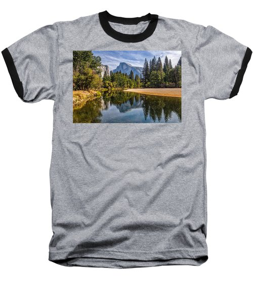 Merced River View II Baseball T-Shirt by Peter Tellone