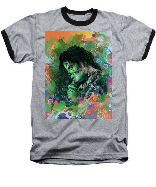 Michael Jackson 15 Baseball T-Shirt by Bekim Art