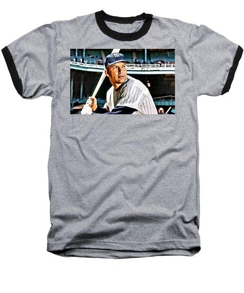 Mickey Mantle Baseball T-Shirt by Florian Rodarte