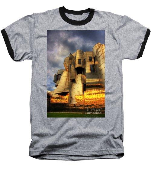Minneapolis Skyline Photography Weisman Museum Baseball T-Shirt by Wayne Moran