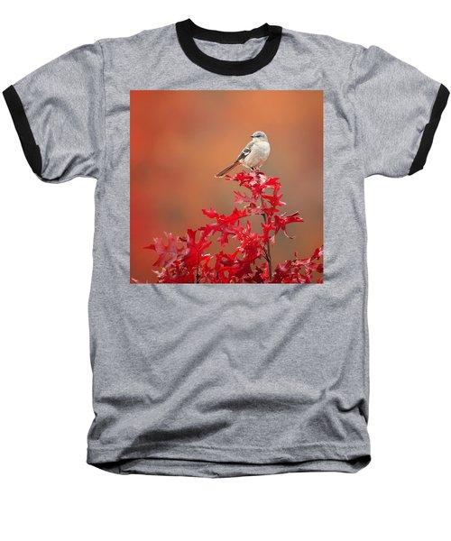 Mockingbird Autumn Square Baseball T-Shirt by Bill Wakeley