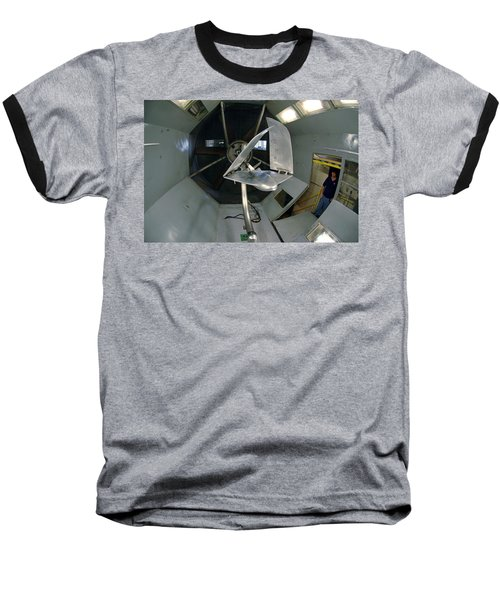 Baseball T-Shirt featuring the photograph Model Airplane In Wind Tunnel by Science Source
