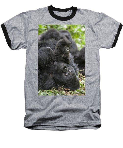 Mountain Gorilla Baby Playing Baseball T-Shirt by Suzi  Eszterhas