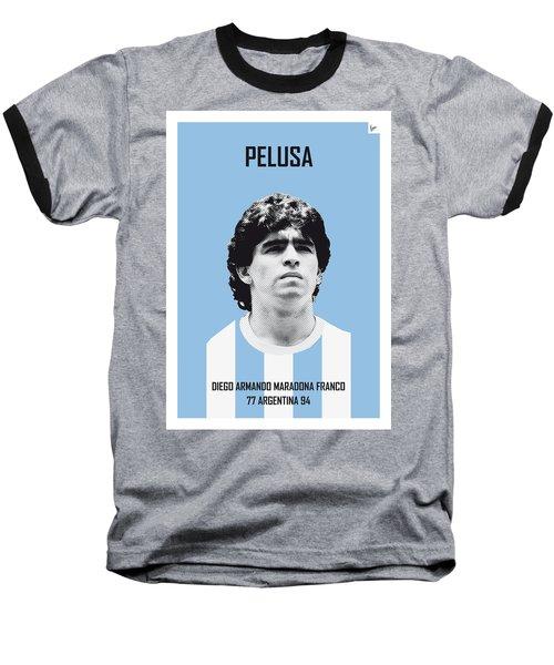 My Maradona Soccer Legend Poster Baseball T-Shirt by Chungkong Art