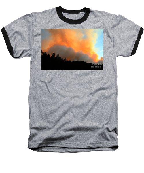Baseball T-Shirt featuring the photograph Myrtle Fire Near Rifle Pit Road by Bill Gabbert