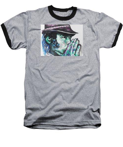 Neil Young Baseball T-Shirt by Chrisann Ellis