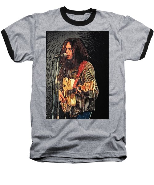 Neil Young Baseball T-Shirt by Taylan Soyturk
