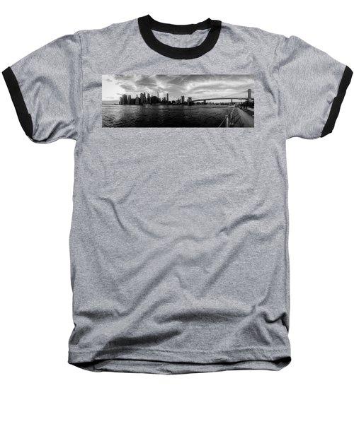 New York Skyline Baseball T-Shirt by Nicklas Gustafsson