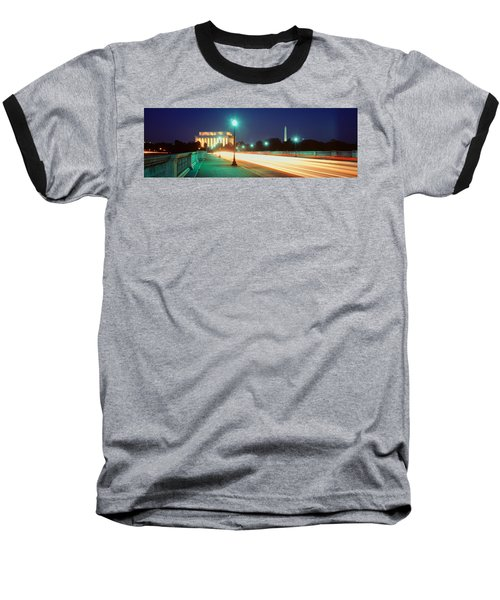 Night, Lincoln Memorial, District Of Baseball T-Shirt by Panoramic Images