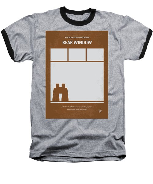 No238 My Rear Window Minimal Movie Poster Baseball T-Shirt by Chungkong Art
