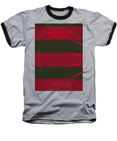 No265 My Nightmare On Elmstreet Minimal Movie Poster Baseball T-Shirt by Chungkong Art