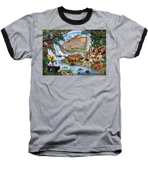 Noahs Ark - The Homecoming Baseball T-Shirt by Steve Crisp
