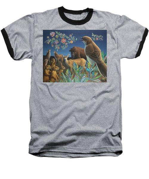 Nocturnal Cantata Baseball T-Shirt by James W Johnson