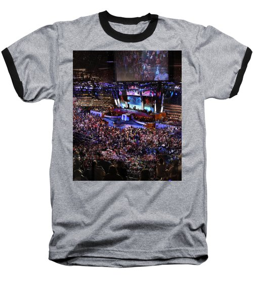 Obama And Biden At 2008 Convention Baseball T-Shirt by Stephen Farley