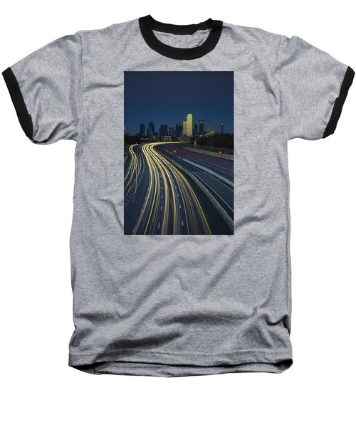 Oncoming Traffic Baseball T-Shirt by Rick Berk