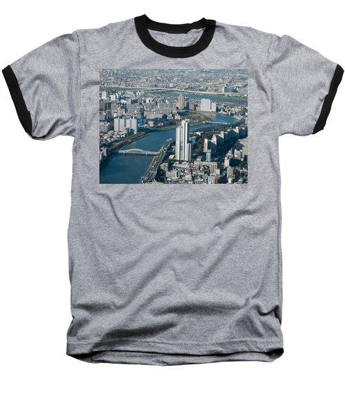 Panorama Of Tokyo Baseball T-Shirt by Jill Mitchell