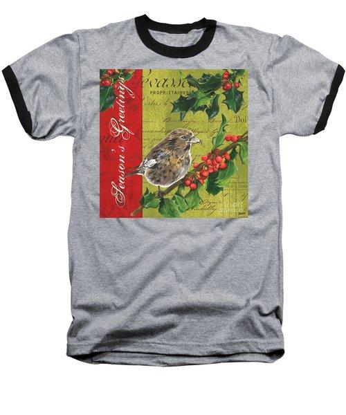 Peace On Earth 1 Baseball T-Shirt by Debbie DeWitt
