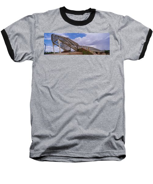 Pedestrian Bridge Over A River, Snake Baseball T-Shirt by Panoramic Images