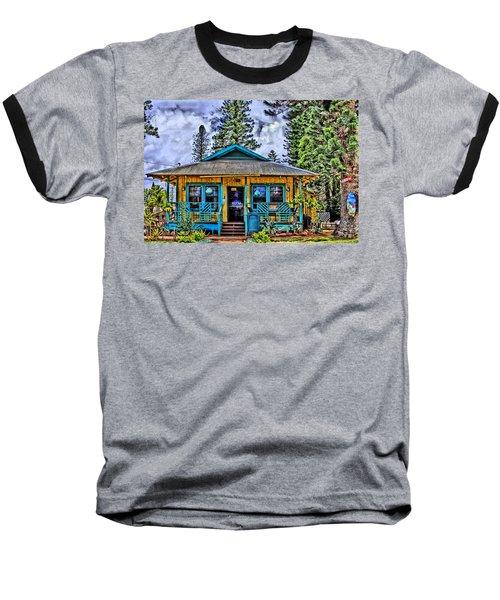 Pele's Lanai Island Hawaii Baseball T-Shirt by DJ Florek