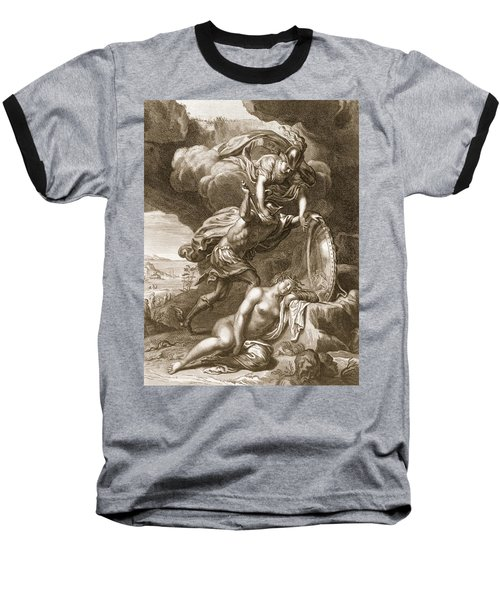 Perseus Cuts Off Medusas Head, 1731 Baseball T-Shirt by Bernard Picart