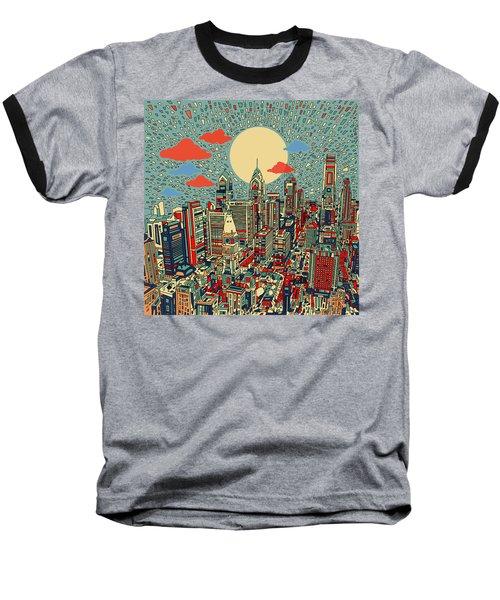Philadelphia Dream 2 Baseball T-Shirt by Bekim Art