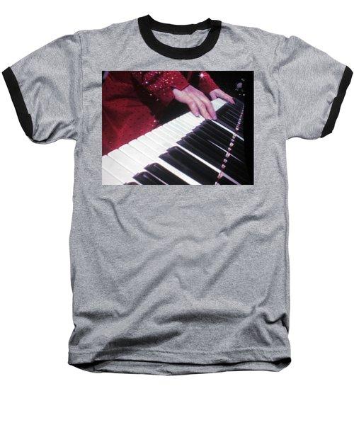 Piano Man At Work Baseball T-Shirt by Aaron Martens