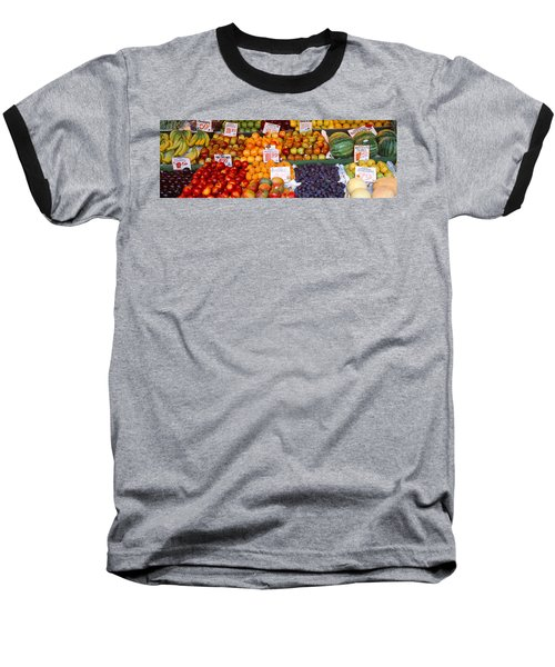 Pike Place Market Seattle Wa Usa Baseball T-Shirt by Panoramic Images