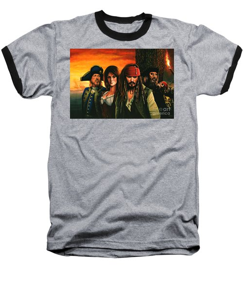 Pirates Of The Caribbean  Baseball T-Shirt by Paul Meijering