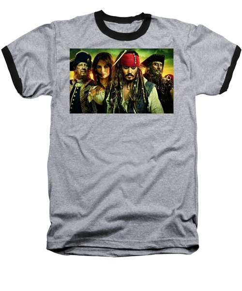 Pirates Of The Caribbean Stranger Tides Baseball T-Shirt by Movie Poster Prints